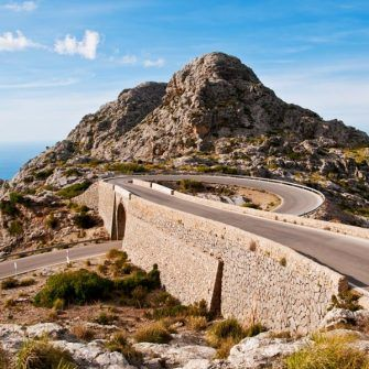 270 degree bend on Sa Calobra road
