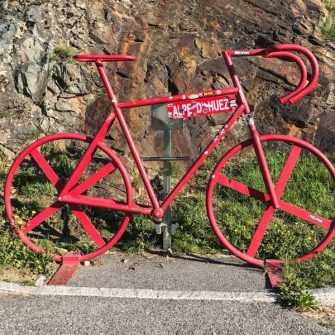 Red bike on Alpe d'Huez