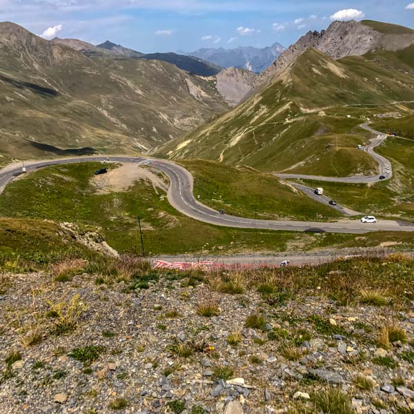 View north of Col du Galibier