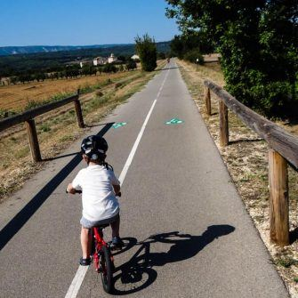 Bike path near Pont Julian, Provence, France