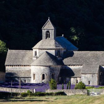 Abbey de Senanque, Luberon with lavender fields