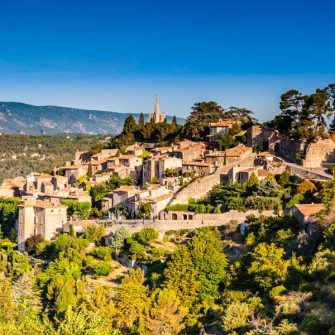 Bonnieux, a perched village in the Luberon, Provence, France