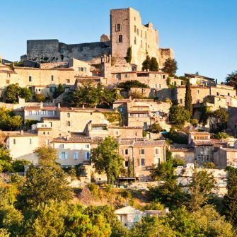 Chateau de Lacoste, a perched village in the Luberon, France