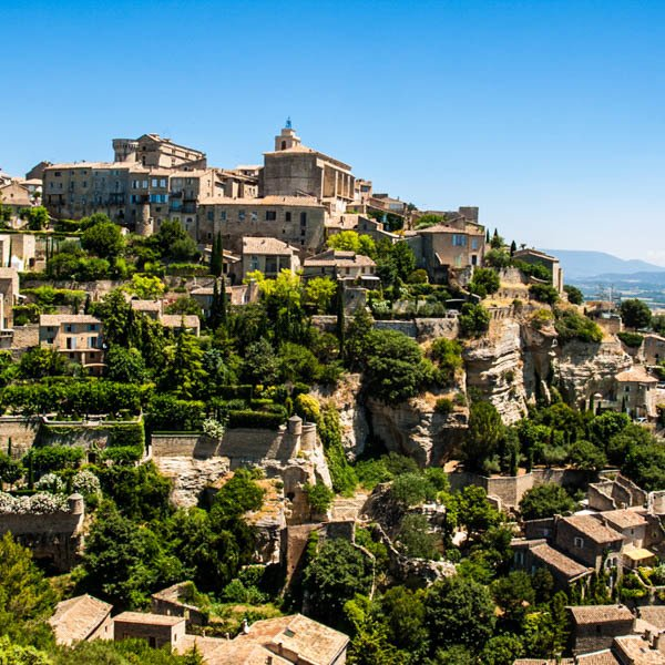 perched village in the Luberon, France