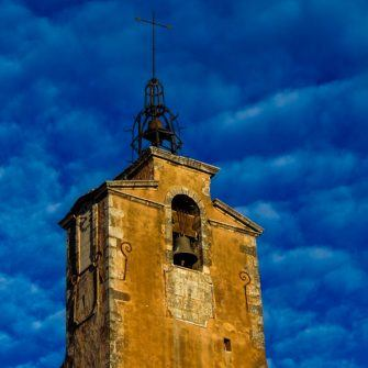Church tower in Roussillon village
