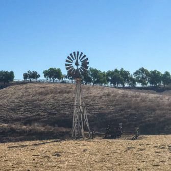 WIndmill in a field by Ballards Canyon road