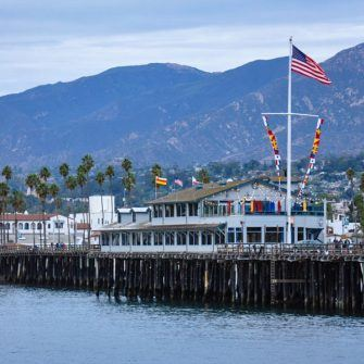 Stearns Wharf on Santa Barbara's seafront