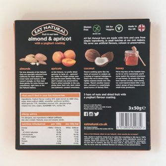 Back of Eat Natural bars box