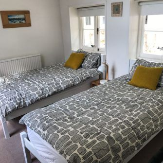 Twin room at Pitts Keep holiday home, Bonchurch