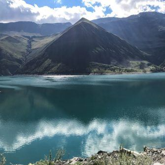 Turquoise water of the Lac de Grand Maison
