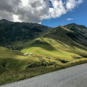 Green hills and mountains to Col Croix de Fer