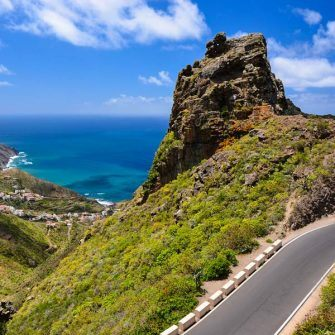Spectacular road descending to Taganaga and Benijo in Tenerife