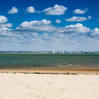 Sandy beach at Ryde, one of the Isle of Wight's best beaches