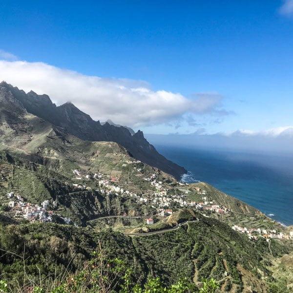 View to Taganaga and the sea
