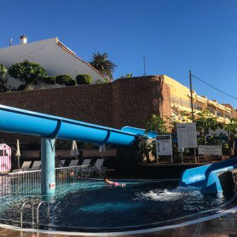 Kids pool and slide at Hotel Belive Playa la arena