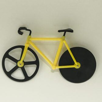Yellow bike pizza slicer