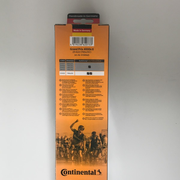 continental grand prix 4000s ii tyres back of pack
