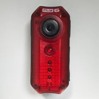 cycliq fly6 rear light camera shown face on