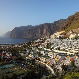 Los Gigantes with its dramatic cliff backdrop
