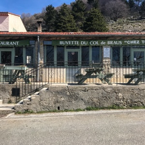 Col de Braus restaurant in the sun