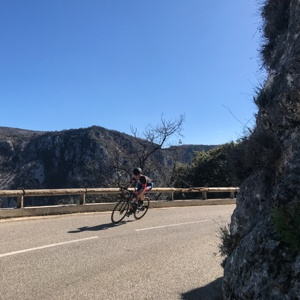 Cycling from Coursegules to Le Broc on the Côte d'Azur