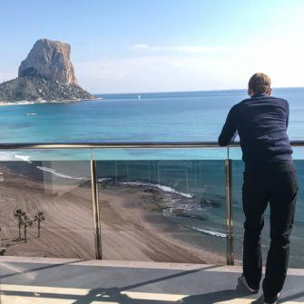 View from a bedroom at Hotel Sol Y Mar Calpe