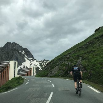 Cycling through La Mongie on the Col du Tourmalet