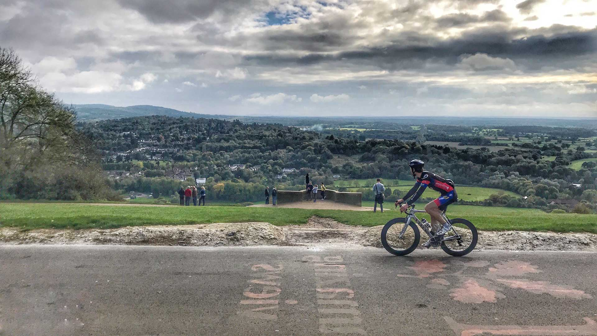 Cycling Box Hill on the Prudential Ride London 2018 route