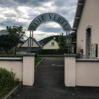 Entrance sign to the Voie Verte