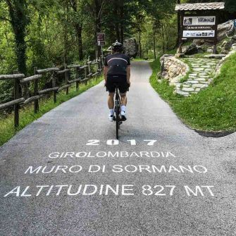 cycling on the Muro di Sormano in merino wool cycling apparel