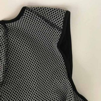 Inner lining of men's stolen goat cycling bib shorts