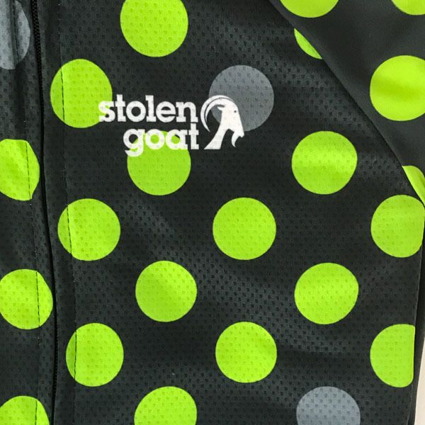 Alchemy Stolen Goat cycling jersey with green spots