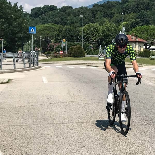 Coming into Varese on the UCI Gran Fondo World Championships 2018 Varese road race course
