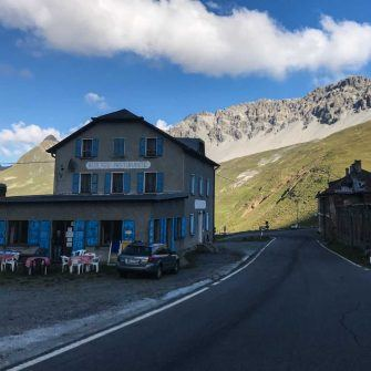 Restaurant on way down Stelvio near Umbrail Pass turn