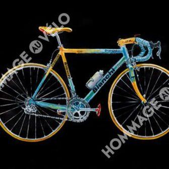 Hommage au Velo cycling art, the perfect christmas present for a cyclist