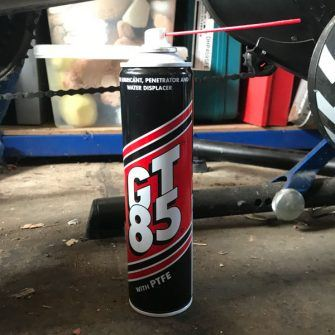 GT85 wet chain lube: an unusual cycling present!