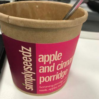 Apple and cinnamon porridge pot from simpyseedz: an unusual christmas gift!
