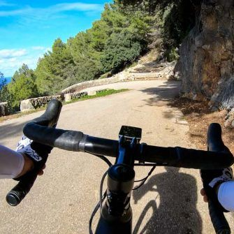 One of the first switchbacks on the road down to Port de Valldemossa