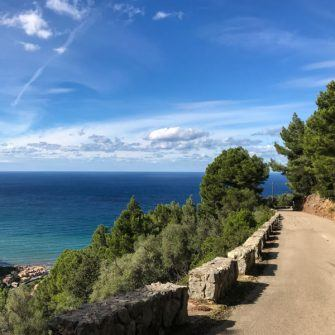 Road to Puerto de Valldemossa Mallorca is perfect for cyclists