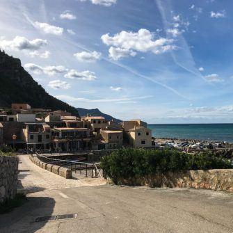 Road into Puerto Valldemossa Mallorca and the pretty village