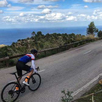The Andratx to Banyalbufar section of the Big Dadd route with sea views and perfect road surface, Mallorca
