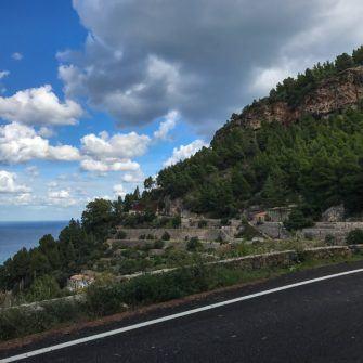 Terraced cliffside near Banyalbufar, Mallorca