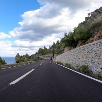 On the Tramuntana coast road which is part of the Mallorca 312 cycling route