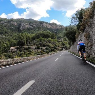 Road to Balnyalbufar on Andratx to Pollensa cycling route MA-10 Mallorca