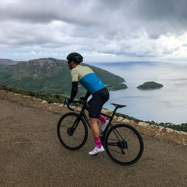 Cracking views over Pollenca bay from the pepperpot