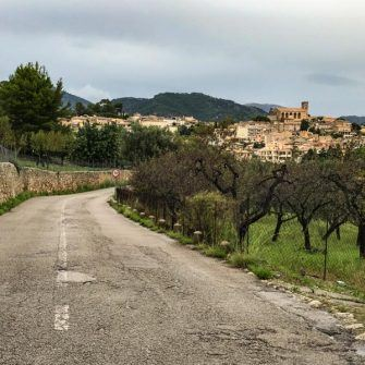 Village on the cyclist's route of Mallorca 312 sportive