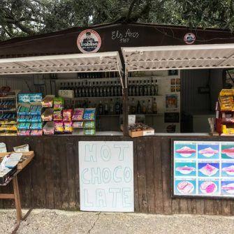 OJ shack cafe at start of Sa Calobra Mallorca