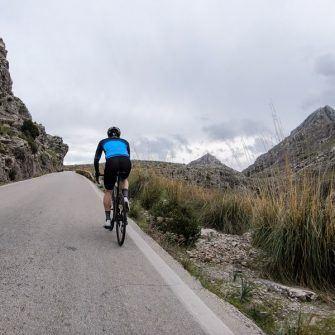 Climbing the Sa Calobra by bike