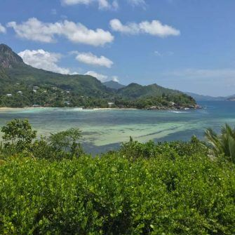 View from Constance Ephilia hotel Seychelles