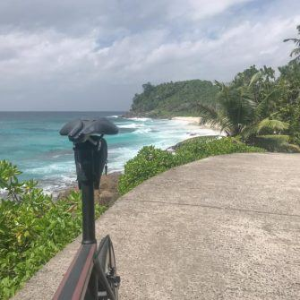 View back to Anse Bazarca